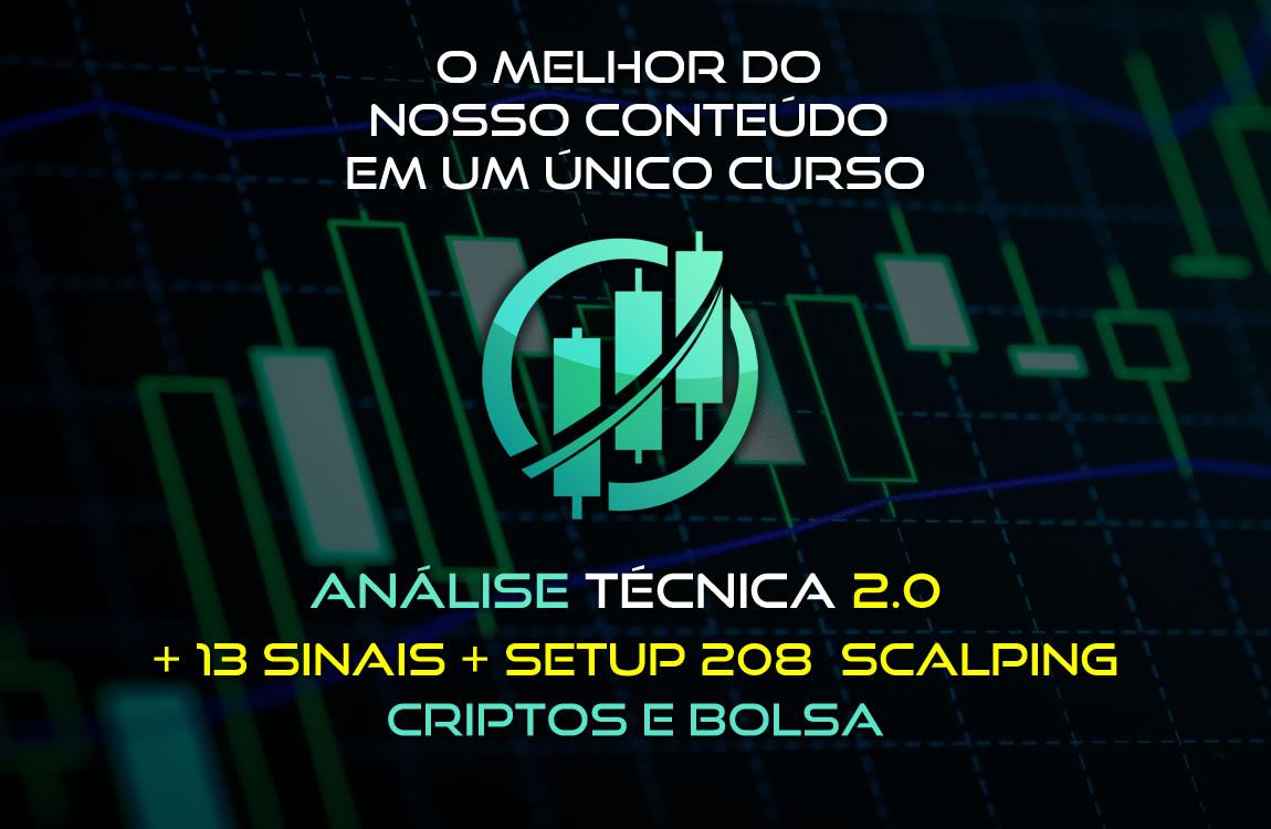 Curso para Curso de Análise Técnica Completo 2.0 + SETUP 208 - Criptos e Bolsa de Valores